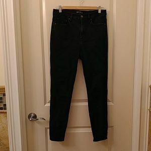 J. Crew factory black skinny jean high rise 29/28